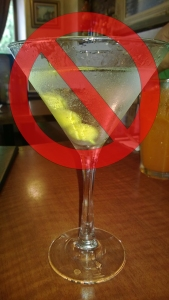 No symbol over a martini (c) Willow-Townsend Production